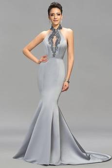 Χαμηλή Μέση Αμάνικο Μακρύ Χάνει Πολυτελές Βραδινά φορέματα
