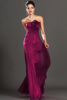Φερμουάρ επάνω Οι πτυχωμένες μπούστο Μήκος πατωμάτων Βραδινά φορέματα