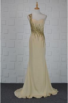 Πολυτελές Σιφόν Θήκη Αμάνικο Φθινόπωρο Φυσικό Βραδινά φορέματα