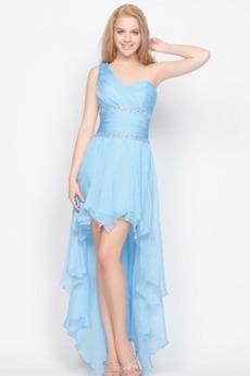 Σιφόν Φυσικό Οι πτυχωμένες μπούστο Ασύμμετρη Βραδινά φορέματα