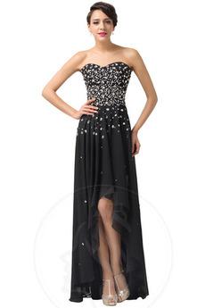 Αμάνικο Φθινόπωρο Σιφόν Φυσικό Κομψό εξώπλατο Βραδινά φορέματα