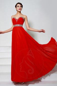 831713cc07dc Άνοιξη Σιφόν Επίσημη Διακοσμημένες με χάντρες ζώνη Βραδινά φορέματα