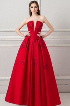 Διακοσμητικά Επιράμματα Βαθιά v-λαιμός Αμάνικο Μπάλα φορέματα