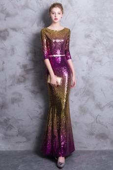 Κοντομάνικο παγιέτες μπούστο σύγχρονος Φυσικό Μπάλα φορέματα