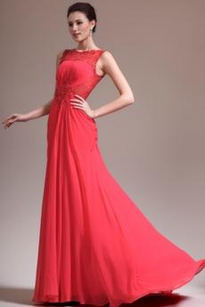 Κόκκινο Υψηλή καλύπτονται Χειμώνας Φυσικό Βραδινά φορέματα