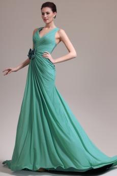 Φυσικό Γραμμή Α δραματική Λαιμόκοψη V Χάνει Βραδινά φορέματα