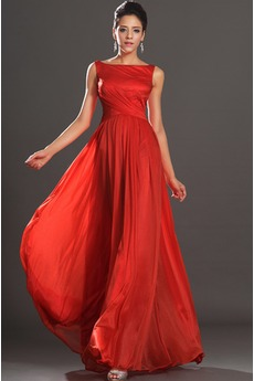 Παραλία Ντραπέ Μακρά Κόκκινο Φερμουάρ επάνω Βραδινά φορέματα