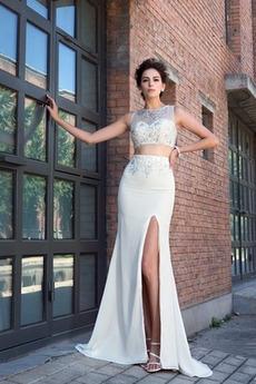 Φερμουάρ επάνω Χάνει Κόσμημα τονισμένο μπούστο Βραδινά φορέματα