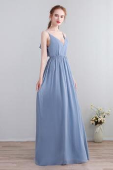 Λαιμόκοψη V εξώπλατο Αμάνικο Χάνει Καλοκαίρι Παράνυμφος φορέματα