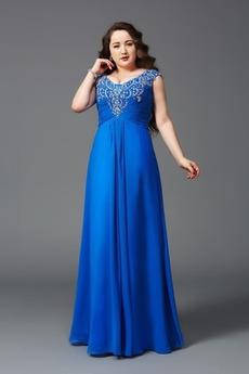 Σιφόν Λάμψη Φυσικό Χάντρες Αμάνικο Καλοκαίρι Βραδινά φορέματα
