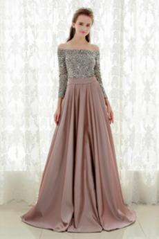 Κοντομάνικο Πούλιες Γραμμή Α Έτος 2019 Από τον ώμο Βραδινά φορέματα