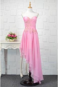 Φυσικό Χάνει υψηλή Χαμηλή Δαντέλα-επάνω Σιφόν Κοκτέιλ φορέματα