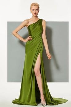 Πλισέ Τα μέσα πλάτη Αμάνικο Κομψό Φυσικό Βραδινά φορέματα