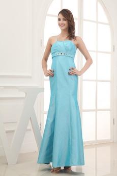 Κρυστάλλινη απλός Αμάνικο Μέχρι τον αστράγαλο Βραδινά φορέματα