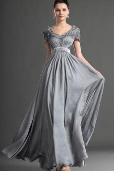 Φερμουάρ επάνω Πλισέ Μήκος πατωμάτων Σέσουλα Βραδινά φορέματα