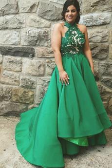 Μπάλα φορέματα Άνοιξη Επίσημη Κόσμημα Φερμουάρ επάνω Διακοσμητικά Επιράμματα