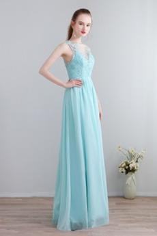 Καλοκαίρι Δαντέλα επικάλυψης Φυσικό Σιφόν Παράνυμφος φορέματα