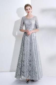 Φυσικό Κόσμημα Δαντέλα-επάνω Μέχρι τον αστράγαλο Βραδινά φορέματα