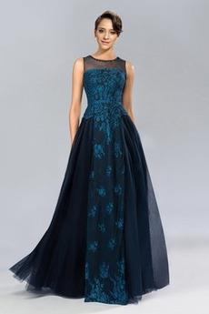 Επίσημη Φυσικό Γραμμή Α Χάνει Ντραπέ Αμάνικο Βραδινά φορέματα