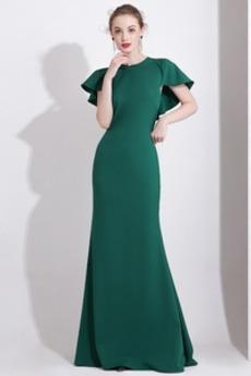 Χαλαρά μανίκια Φυσικό Κόσμημα Ελαστικό σατέν Βραδινά φορέματα