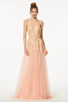 Δαντέλα Κόσμημα Κεντήματα εξώπλατο Φυσικό Μπάλα φορέματα