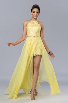 Κομψό Γραμμή Α Ανάποδο Τρίγωνο Φυσικό εξώπλατο Μπάλα φορέματα