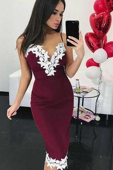 Ρομαντικό Άνοιξη Αμάνικο Δαντέλα Φυσικό Θήκη Κοκτέιλ φορέματα