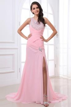 Ένας Ώμος Φυσικό πιέτα φαντασία δραματική Μπάλα φορέματα