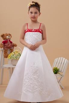 Τα μέσα πλάτη Χάντρες Μικροκαμωμένη Αίθουσα Λουλούδι κορίτσι φορέματα