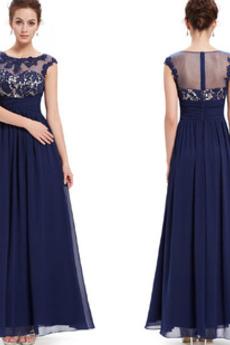 Δαντέλα επικάλυψης Σιφόν Φερμουάρ επάνω Διακοσμητικά Επιράμματα Βραδινά φορέματα