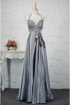 Τόξο Ελαστικό σατέν Κόσμημα τονισμένο μπούστο Βραδινά φορέματα