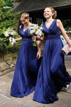 Φθινόπωρο Φυσικό Οι πτυχωμένες μπούστο Αμάνικο Παράνυμφος φορέματα