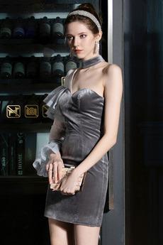 Βραδινά φορέματα Ένας Ώμος Μακρύ Μανίκι Θήκη Φυσικό Σέξι Ασύμμετρα μανίκια