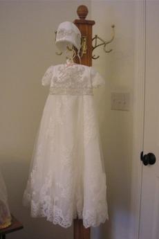 Μαργαριτάρια Φυσικό Πριγκίπισσα Υψηλή καλύπτονται Φόρεμα Βάπτισης