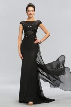 Δαντέλα Δαντέλα επικάλυψης Προσαρμοσμένες μανίκια Βραδινά φορέματα