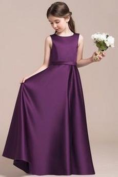 Κλειδαρότρυπα πίσω Μέχρι τον αστράγαλο απλός Λουλούδι κορίτσι φορέματα