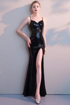Φυσικό Λαιμόκοψη V Αμάνικο Μπροστινό Σκίσιμο Μπάλα φορέματα