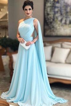 Μπάλα φορέματα Μακρύ Έτος 2019 Μακρά Φυσικό απλός Σιφόν