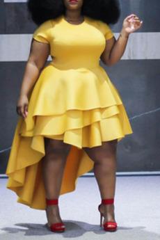 Μπάλα φορέματα απλός Ασύμμετρη Σατέν πολλαπλών στρώμα Χειμώνας Ασύμμετρη