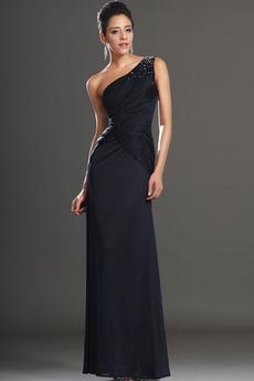 6bfd2e98743 Φερμουάρ επάνω Ένας Ώμος Θήκη Αμάνικο Χάντρες Βραδινά φορέματα