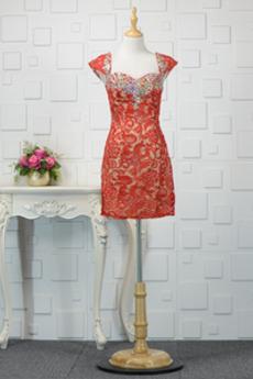 Φυσικό Μέχρι το Γόνατο Κοντομάνικο Θήκη σικ Βραδινά φορέματα