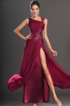 Κλεψύδρα Σιφόν Μηρό-υψηλές σχισμή Χαμηλή Μέση Μπάλα φορέματα