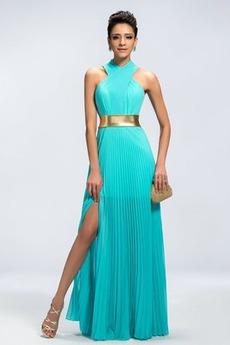 Μπροστινό Σκίσιμο Υψηλός λαιμός Πολυτελές Βραδινά φορέματα