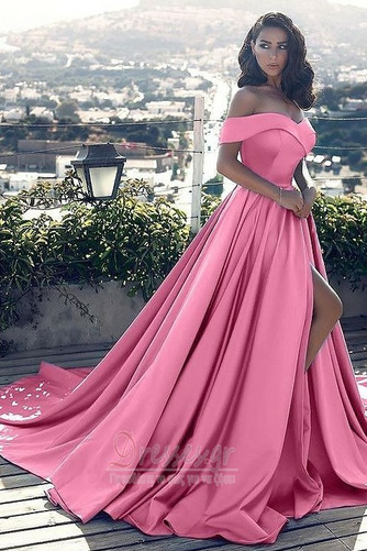 Άνοιξη Ντραπέ Από τον ώμο Αμάνικο Φερμουάρ επάνω Βραδινά φορέματα - Σελίδα 4