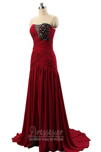 Σιφόν Αμάνικο Λαμπερό Χάντρες Μήκος πατωμάτων Βραδινά φορέματα - Σελίδα 9