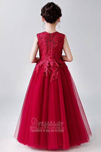 Κομψό Καλοκαίρι Δαντέλα Γραμμή Α Αμάνικο Λουλούδι κορίτσι φορέματα - Σελίδα 8