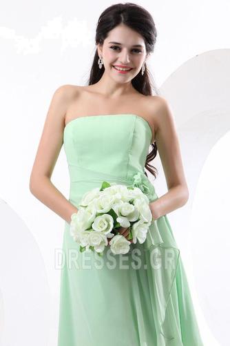 Τονισμένα ροζέτα Γραμμή Α Φυσικό Αμάνικο Παράνυμφος φορέματα - Σελίδα 6
