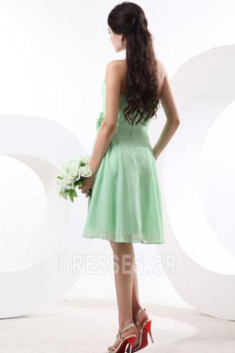 Τονισμένα ροζέτα Γραμμή Α Φυσικό Αμάνικο Παράνυμφος φορέματα - Σελίδα 5