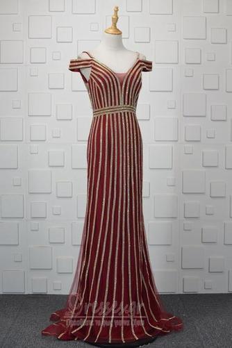Πούλιες Θήκη εξώπλατο Τούλι Έναστρο Ανάποδο Τρίγωνο Βραδινά φορέματα - Σελίδα 1