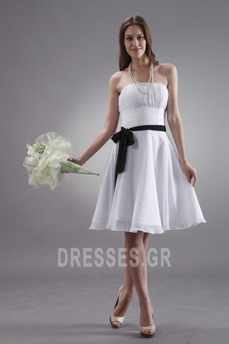 Μέχρι το Γόνατο Μικροκαμωμένη Τα μέσα πλάτη Παράνυμφος φορέματα - Σελίδα 1
